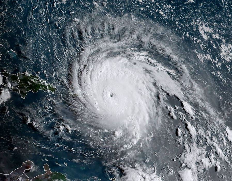 Satellitbild av Irma